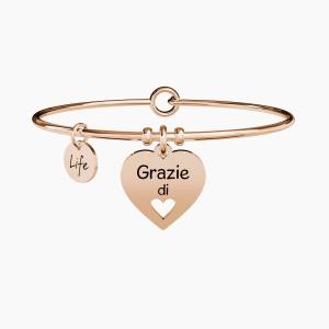 BRACCIALE DONNA LOVE ACCIAIO ROSE
